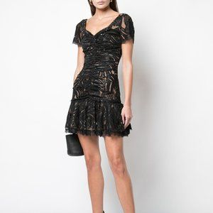 Jonathan Simkhai Gathered Lace Mini Dress NEW $595